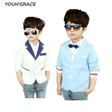 2016 New Design Kids Casual Suits Boys Korean Style Jackets Brand Children Polka Dot Wedding Blazers for Boys Formal Jacket,C179