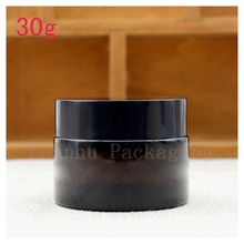 Wholesale Women's Personal Care Exclusive Use Brown Glass Cream Jar,Cosmetics Packaging Container,Beauty Skin Care Cream Bottle