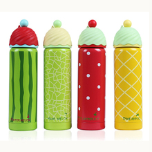 Vacuum Flasks Thermoses 350 ml Cute Fruit Shape Insulated Travel Mug Bottle Stainless Steel Cups Portable Children Gift KC1312