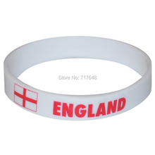 100pcs a lot England wristband  rubber cuff wrist band bangle free shipping by FEDEX express