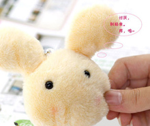 Super Kawaii 10*4CM Plumpy BOBO Rabbit Plush Stuffed TOY DOLL - Phone Charm Strap Pendant Lanyard DOLL BAG Key Chain DOLL TOY