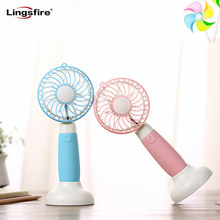 Handheld Fan Mini Table Fan with Removable Base USB Rechargeable Personal Cooling Desk Fan for Home Office Travel Ventilator(China)