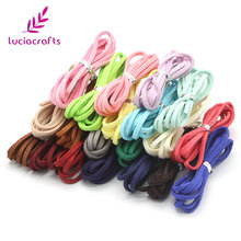 Buy Lucia crafts 10y/11y/20y 2.5mm Random Mixed colors Velvet Imitation Leather Cord Flat Faux Suede string Rope 008005039 for $1.13 in AliExpress store