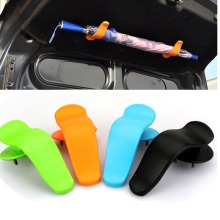 1pair Rack Clip Hook on Trunk Cover Interior Fashion Multifunctional Fastener for Umbrella ABS 12.8x6.4cm Car Styling(China)