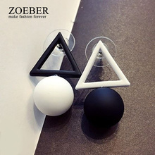ZOEBER colors cube candy Stud flowers geometry earrings women Glass summer Lovely lady black green pink Earings Jewelry female(China)