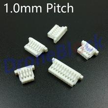 10 Pcs/ a lot 1.0mm Pitch Plug connector CC3D/miniapm/skyline32/SP Racing F3 GPS Bluetooth Telemetry OSD Receiver cleanflight