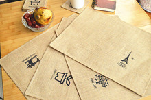 2015 Cotton dinning table Mat Special hot sale household supplier!Jute Nostalgic old style coaster placemat insulation pads.