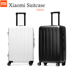 "Buy 24 Inch Original Xiaomi Suitcases 90 FEN Spinner Wheel Luggage Suitcase 24"" 64L Trolley Cases carrier trunk boot Lock Code for $135.38 in AliExpress store"