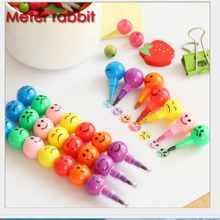 1PC 7 color diy drawing pen cute Candied gourd stacker swap smile face crayons children's kids creativity education toys gift