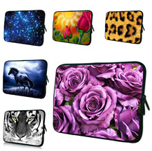 "Rose 9.7"" Notebook Tablet 10.1 Waterproof Nylon Inner Case Women Bags For Apple iPad Pro Chuwi Hi10 Netbook Mini PC Laptop Bag(China)"
