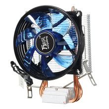 Hot Copper Cooling Fan Core LED CPU Cooler Cooling Fan Quiet Fan Cooler Heatsink for Intel Socket LGA1156/1155/775 AMD AM3