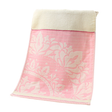 Hot selling Pure Cotton Face Towels with Jacquard Weave 32 Strands Design Towels 3 Colors