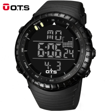 Wholesale 10 Pieces a Lot OTS 7005 Mens Watch Digital Sports Dive 50m Military Watch Men Fashion Casual LED Electronics Watches