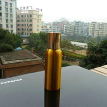 80ml aluminum gold bottle With gold aluminum cap.cosmetic container, for essential oils,pharmaceutical raw materials(China)
