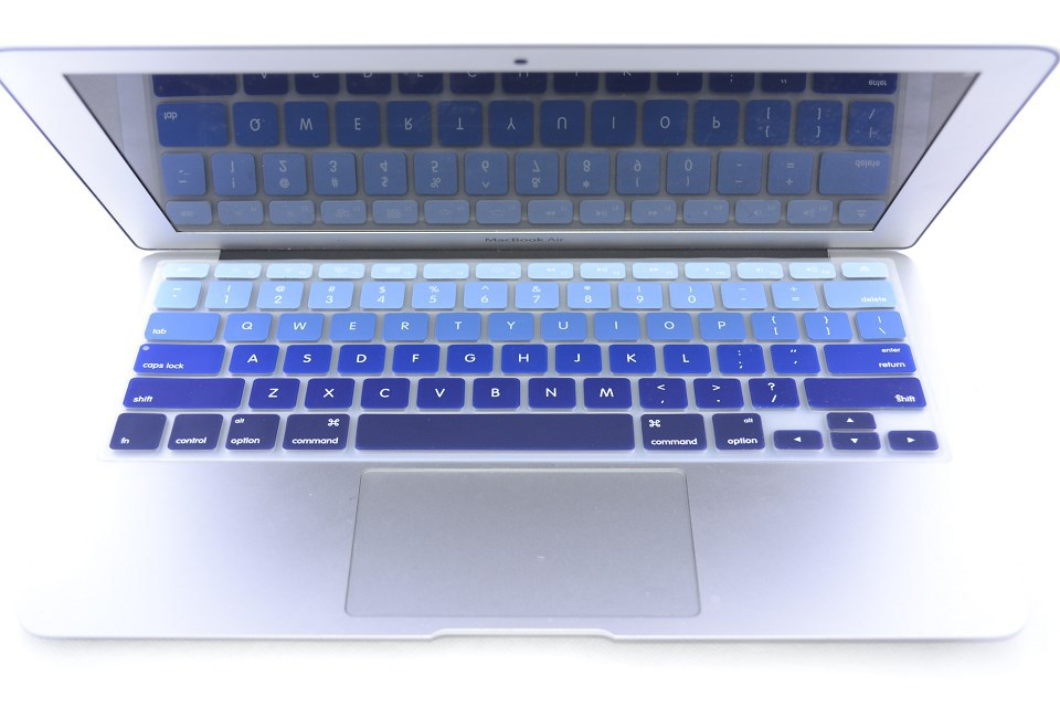 """2x Black Ultra Thin Silicone keyboard Cover for Apple Macbook 11//12/"""" 13/"""" 15/"""""""