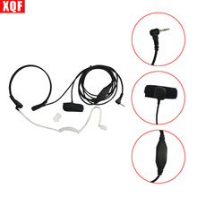 Throat Mic Microphone Covert Acoustic Tube Bodyguard FBI Earpiece Headset With Finger PTT for Motorola Talkabout Cobra Radio(China)