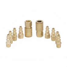 "10pcs Brass Quick Release Coupler Set 1/4"" Air Hose Connector For Fitting NPT Connectors Tools(China)"