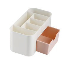 1PC Plastic Cosmetic Storage Box With Small Drawer Multi-functional Jewelry Box Desk Sundries Storage Container Organizer(China)