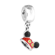 "Beads Fits Pandora Bracelets 925 Sterling Silver Jewelry Mouse ""Mickey Ear Hat"" Original Fashion Charms PANDOCCI(China)"