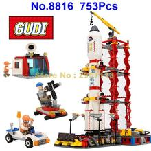 Gudi 8816 753pcs Space Series Rocket Station Launch Center Building Block Boys Bricks Toy Brick Toy