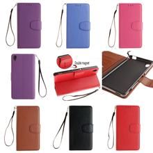 High Quality PU Leather Flip Wallet Phone Case Cover For Sony Xperia Experia M4 M 4 Aqua Dual E2303 Rose Brown Black Purple