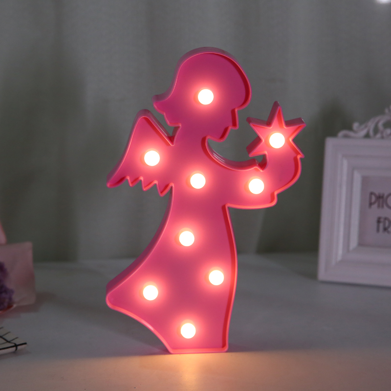 Flamingo Unicorn LED Light Baby Shower Wedding Party Home Kids DIY Decoration Star Heart Pineapple Christmas Tree 3D Desk Lamp,8 8