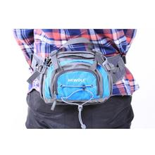 Nylon Waterproof Cross Body Bag for Men Women Small Casual Multi Functional Trekking Waist Bag Solid Color Belt Pack Pouch Y2(China)