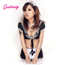 Buy candiway Sexy maidservant Babydoll uniform ayah Cosplay porn panties robe sexy club maid costume sexy amah nightwear