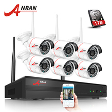 ANRAN Newest Plug And Play 8CH Wireless NVR Surveillance System 1TB HDD 720P HD IR Outdoor CCTV WIFI IP Security Camera System(China)