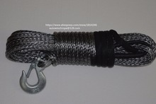 Grey10mm*30m Synthetic Rope,Boat Winch Cable,Kevlar Rope,Spectra Rope,Winch Rope with G70 Hook