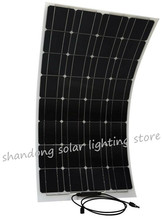 Semi flexible bending 100 w 100 watt lightweight solar panels to the 12 v battery manufactured by China Jing Yang(China)
