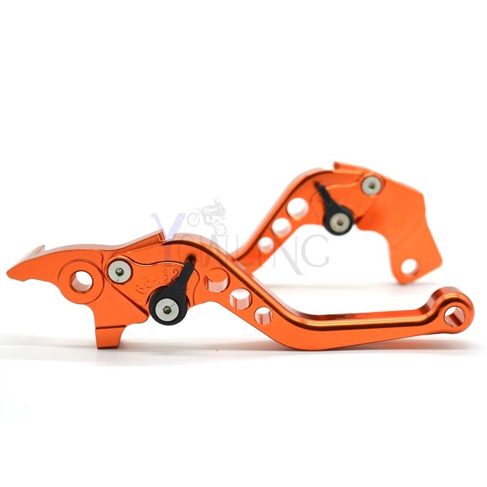 CNC Motocicleta Ajustable Profundo Corte De Aluminio CNC Freno Palancas de Embrague Para for KTM DUKE 125/200 DUKE390 11-14