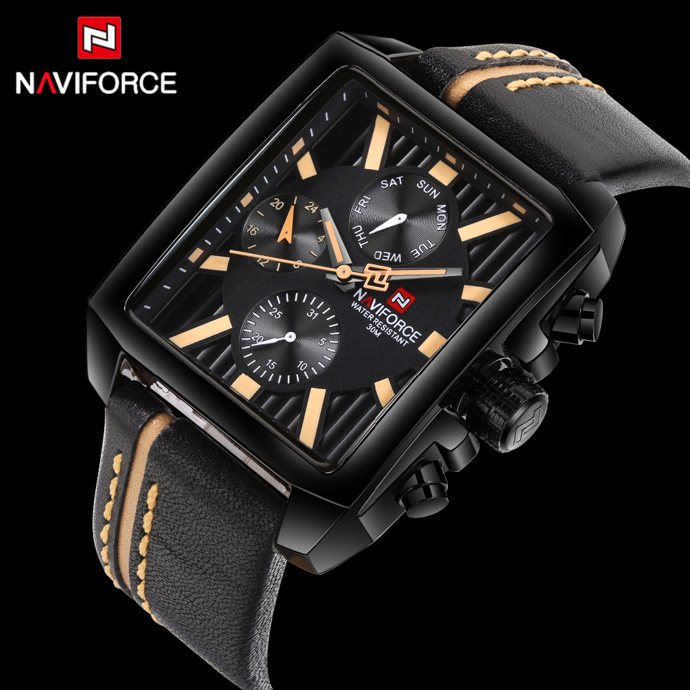 Watches Men NAVIFORCE Luxury Brand Mens Military Watches Fashion Male Sport Quartz-Watch Man Business Clock Relogio Masculino<br>