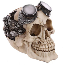 Skull head ornaments personality spoof desktop Decoration Halloween Gift(China)