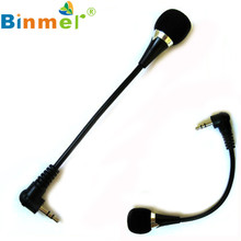 Factory price New High Quality Hot Selling Binmer Mini 3.5mm Jack Flexible Microphone Mic For PC Laptop Notebook Drop Shipping