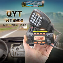 Best Price Mini Car Radio QYT KT-8900 136-174/400-480MHz Dual Band Mobile Walkie Talkie KT8900 with Programming Cable