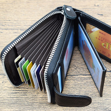 New brand fashion cards wallet for women luxury black business card holders women's purse genuine leather credit card case cover(China)