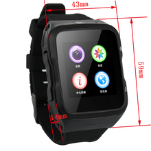 3G wifi Android 5.1 system smart watch phone clock support SIM 5.0MP HD Camera GPS FM for Android iOS Phones PK kw88 s99(China)