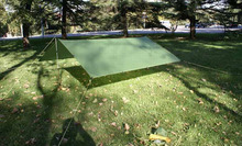 3*3m 210T with silver coating 3F UL tent outdoor camping roof top tent water proof army tent(China)
