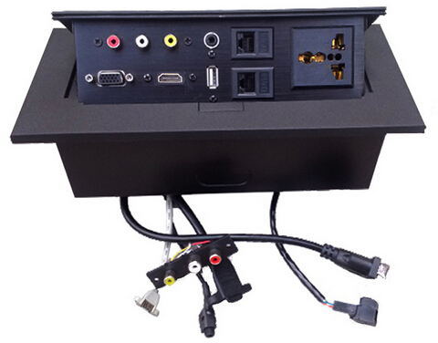 Cheap high quality universal internet tabletop pop up socket audio,video,rj11l,rj45,mic,hdmi,usb,vga,xlr,rca cable desk socket<br><br>Aliexpress