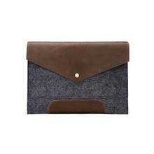 2017 Retro Style Crazy Leather Bag Horse Leather Satchels Men 's Business Casual Day Clutches Gray Envelope Bag Brand Sindermore