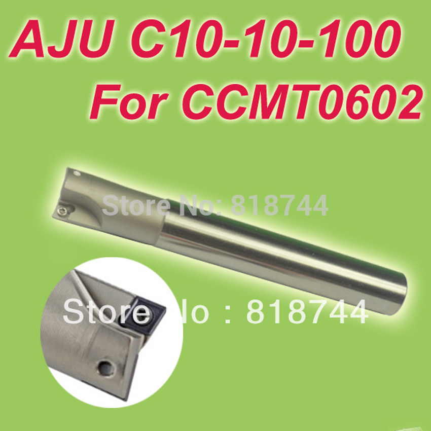 Free Shiping AJU C10-10-100 Dia 10mm Insertable Bore Drilling End Mill Cutting Tools Arbor  for CCMT060204<br><br>Aliexpress