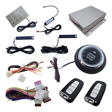 PKE Car Alarm System With Car Engine Start Stop Finger Touch Button Auto Lock & Unlock Auto Arm & Disarm(China)