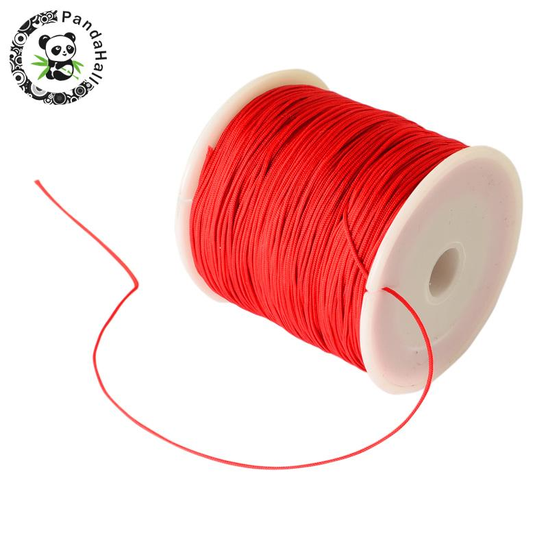 0.8mm 90m/roll Nylon Thread Cord For Bracelets Beading Necklace Jewelry DIY Accessories Making 12