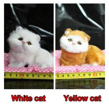 Press Sounding Kitten Stuffed Doll Kawaii Simulation Cats Plush Toys Childrens Decoration Birthday Gifts
