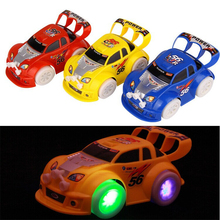Hot! 2017 Children's toy car model Universal Electric Vehicle stunning luminous music toy car Electric toy car Speed Star L2038(China)
