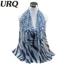10pcs wholesale Long Chiffon Silk scarves 50*160cm Sexy Design Leopard  Zebra Line Print Woman Lady scarves Muffler P5A16274