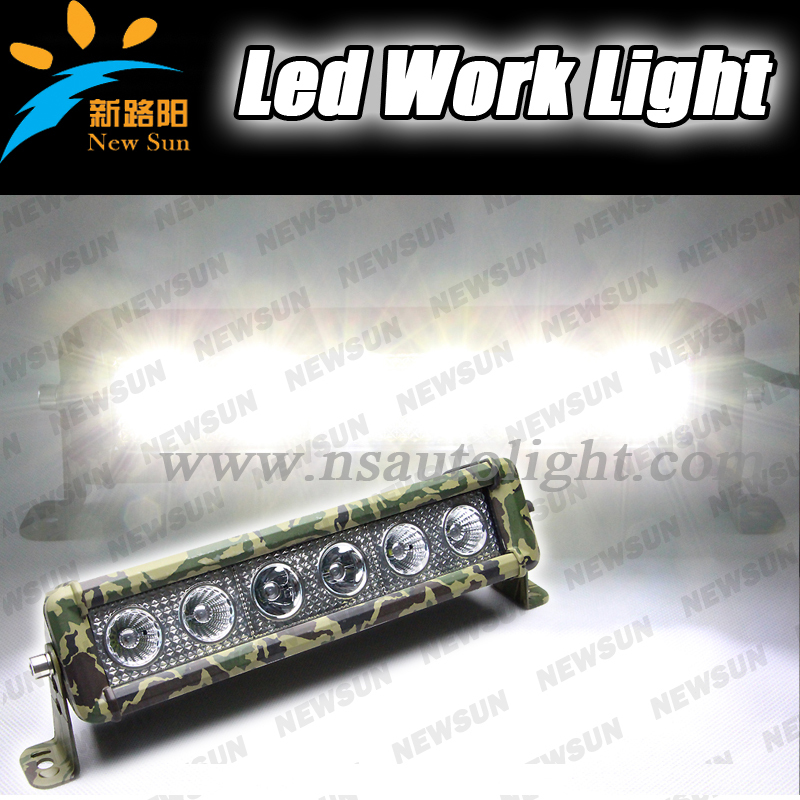2014 newest 60w 12 inch Camo Led Light Bar atv led lights 60w car led auto light offroad light bar combo beam<br><br>Aliexpress