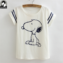 New Women Tshirt Summer Style Cute Dogs printing style  Novelty Vogue Princess Print Cotton Casual Shirt For bat sleeve Top Tee