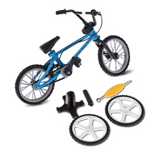 Mini Bicycle Model Functional Finger Mountain Bike Fixie Bicycle Boy Toy Creative Game Gift with Spare Tire Tools